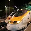 Two Eurostar high-speed trains, Waterloo Terminus, London, United Kingdom (2006)
